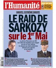 l'humanité, nicolas sarkozy, front de gauche, présidentielle 2012
